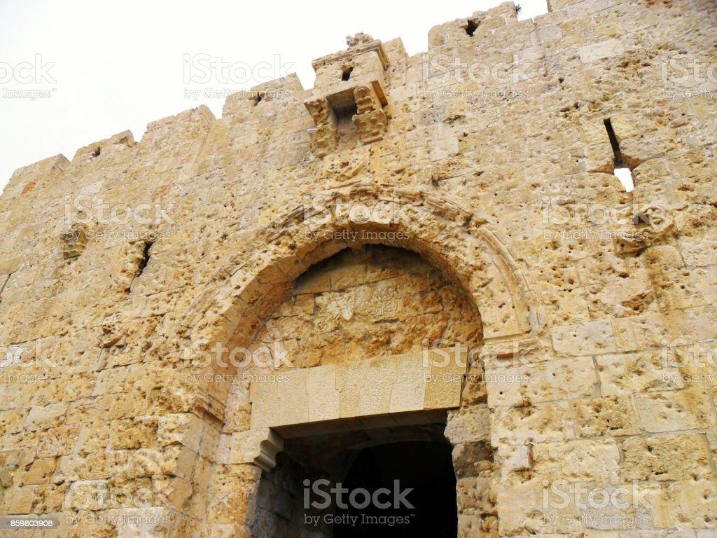 Israel, Middle East, Jerusalem, Damascus Gate, old city stock photo