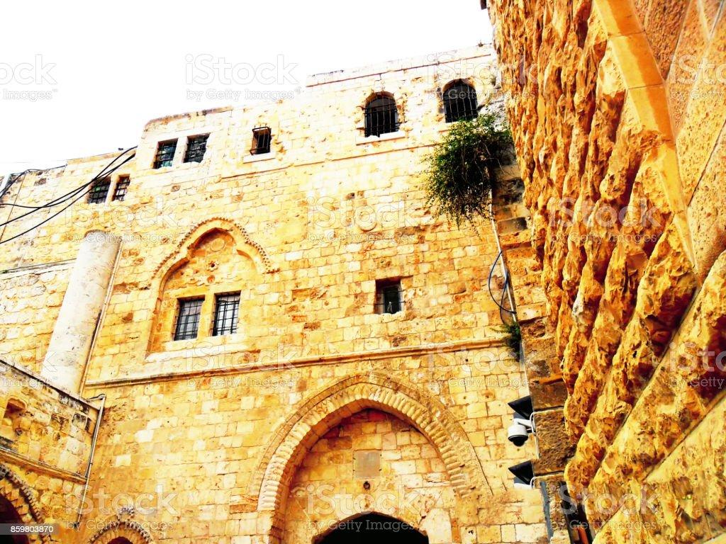 Israel, Middle East, Jerusalem, Mount Zion, old city stock photo