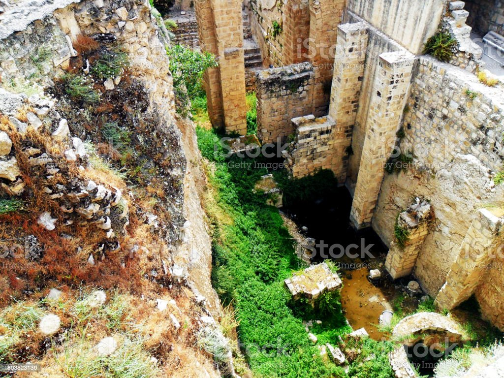 Israel, Middle East,  Jerusalem, The Pool of Bethesda stock photo