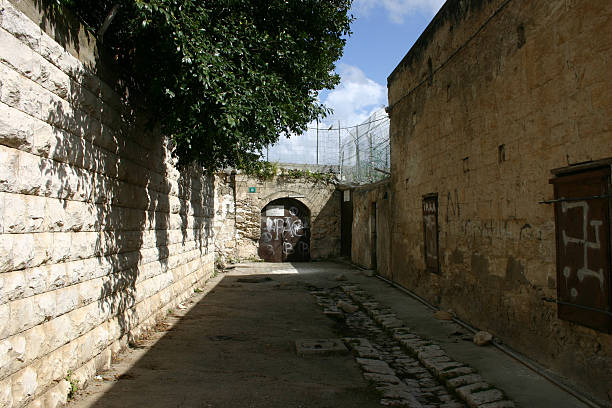 Israel Nazareth Alley stock photo