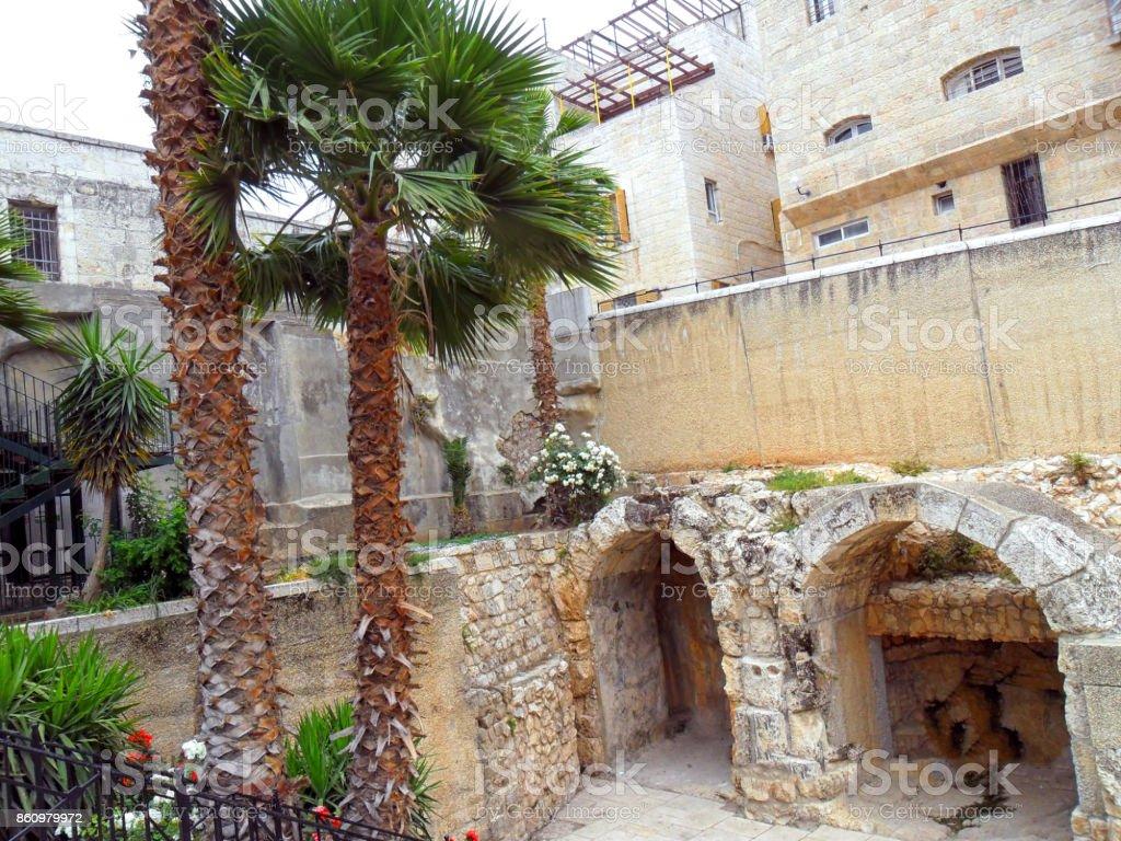 Israel, North Africa,  city of Jerusalem, Jewish Quarte,Via Cardo stock photo