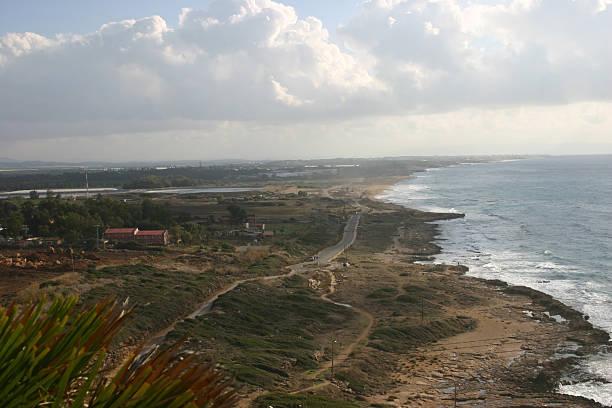 Israel - Northern coast line stock photo