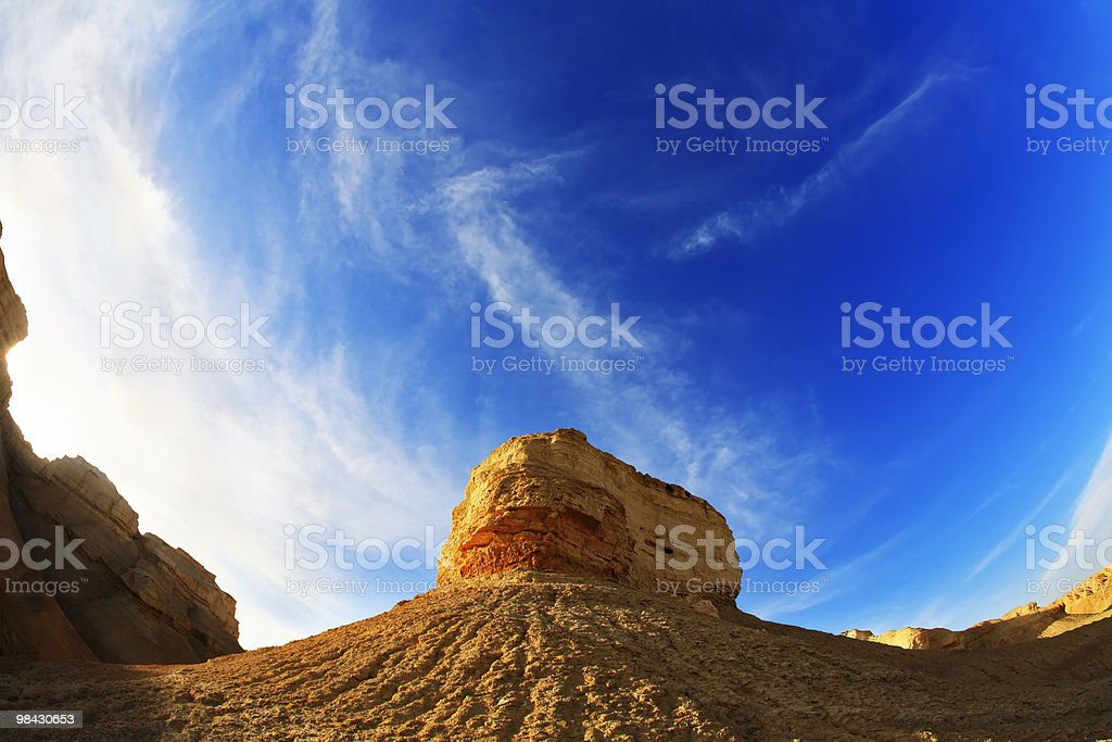Israel on a sunset royalty-free stock photo
