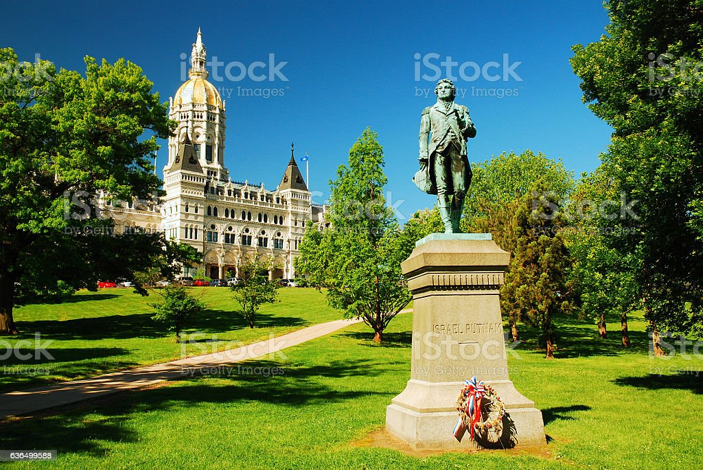 Israel Putnam, Connecticut State Capitol stock photo