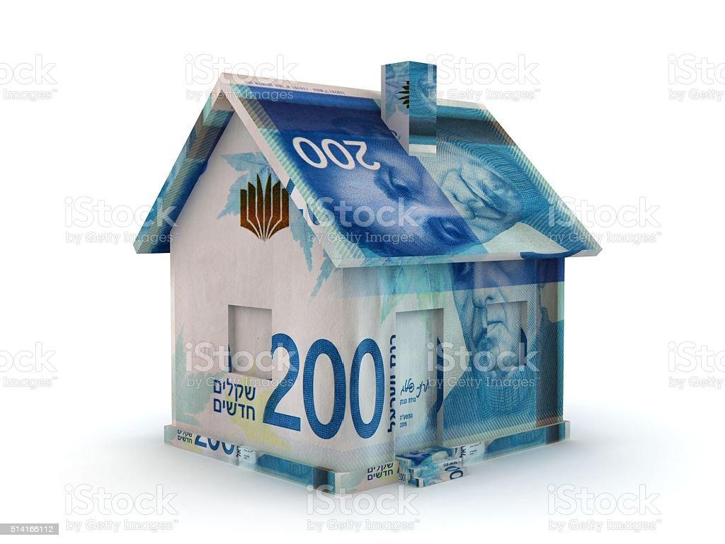 Israel shekel real estate price stock photo