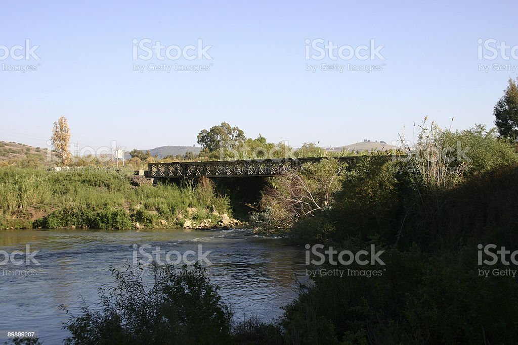 Israele il fiume Giordano foto stock royalty-free