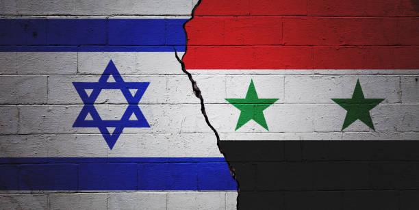 Israel vs Syria stock photo
