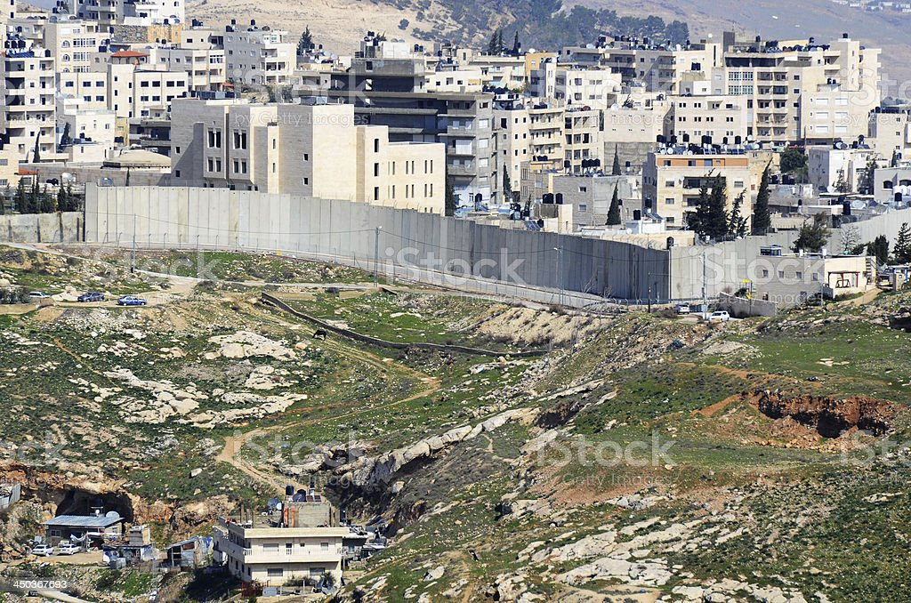 Israel West Bank Barrier stock photo