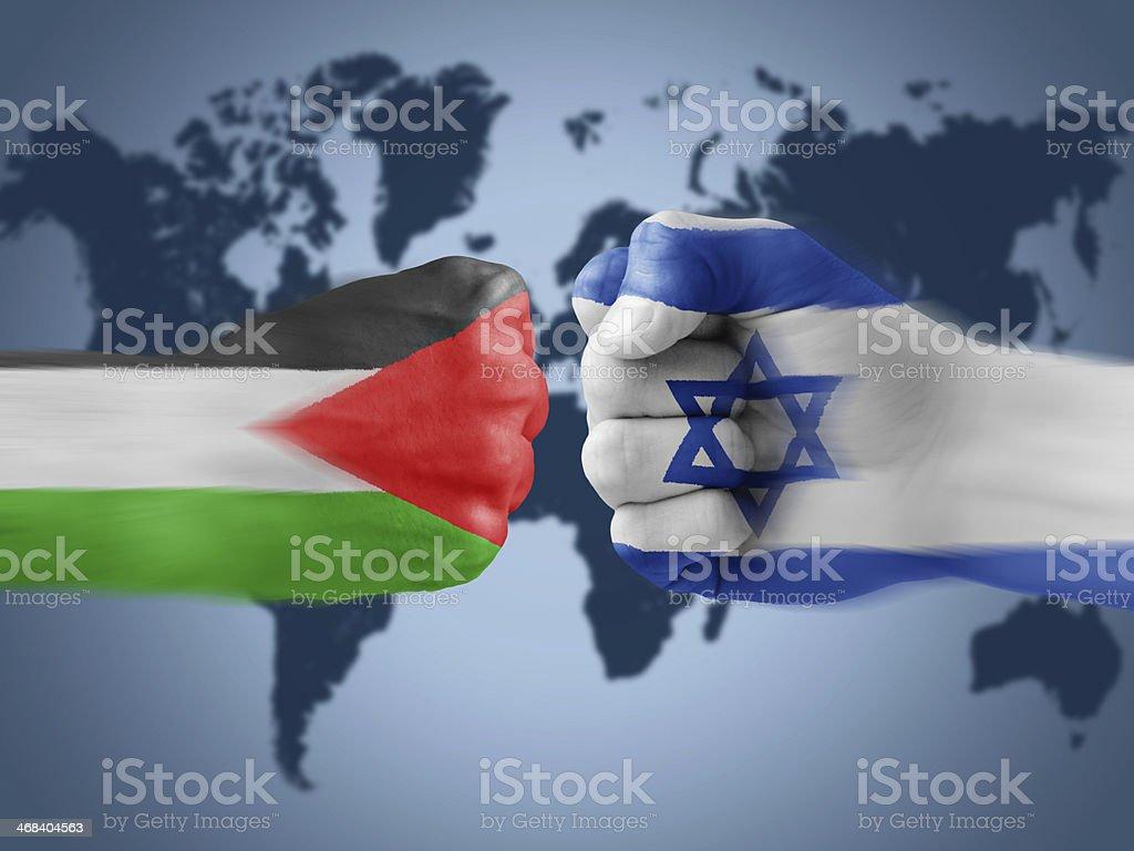 Israel x Palestine stock photo