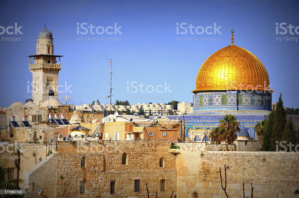Israel-Dome of the Rock royalty-free stock photo
