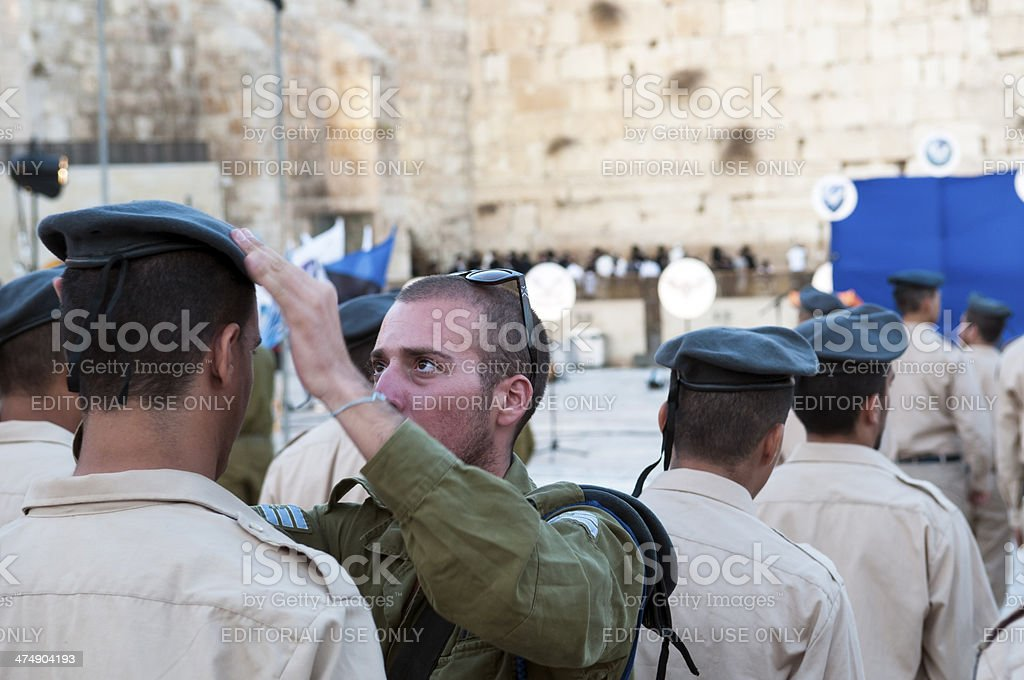 Israeli air force graduation in Jerusalem stock photo