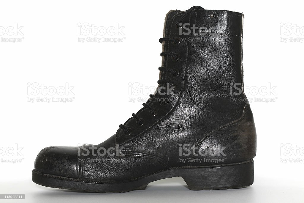 Israeli army boot, isolated royalty-free stock photo