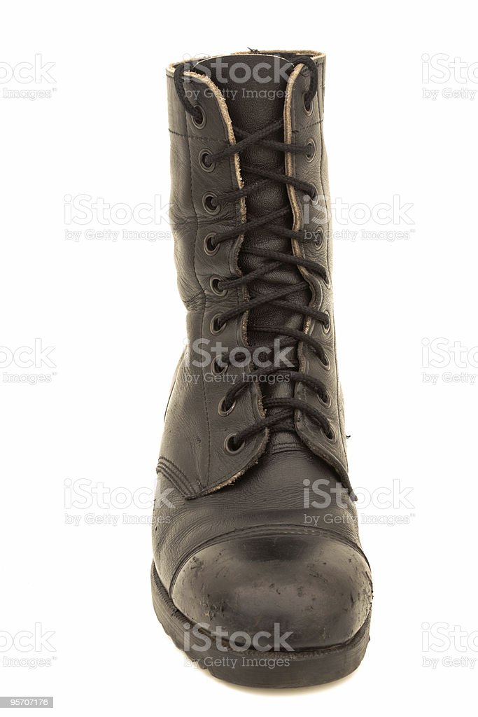 Israeli army boot, isolated stock photo