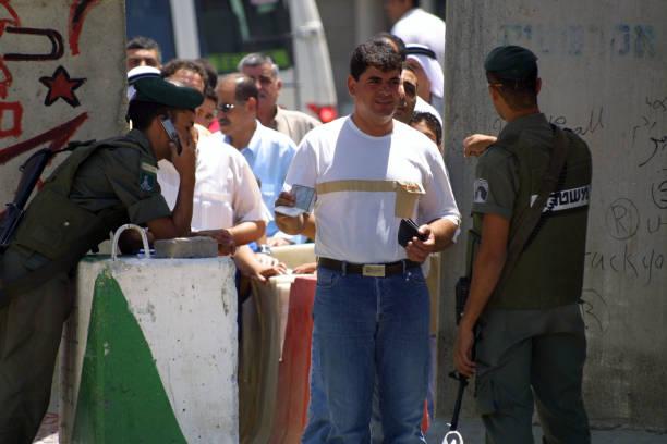 Israeli Checkpoint, Jerusalem stock photo