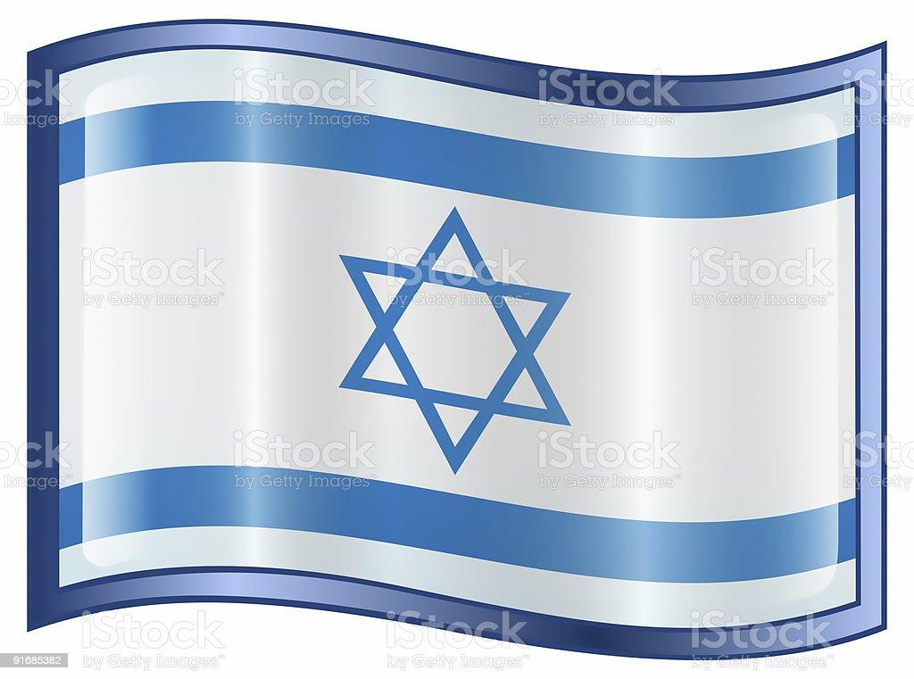 Israeli Flag icon, isolated on white background. royalty-free stock photo