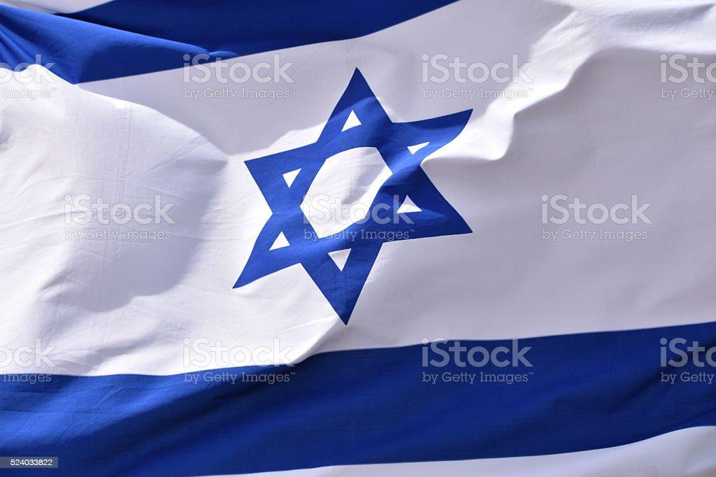 Israelische Flagge im wind – Foto