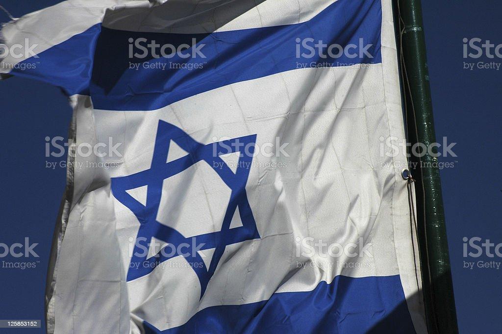 Israeli Flag stock photo