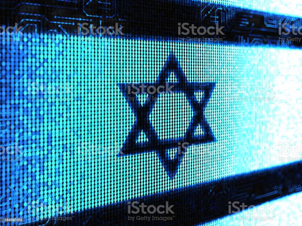 Israeli flag royalty-free stock photo