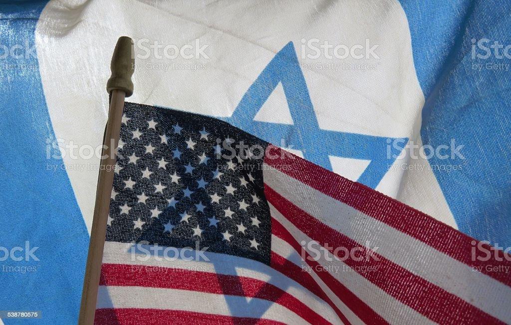Israeli flag United States flag