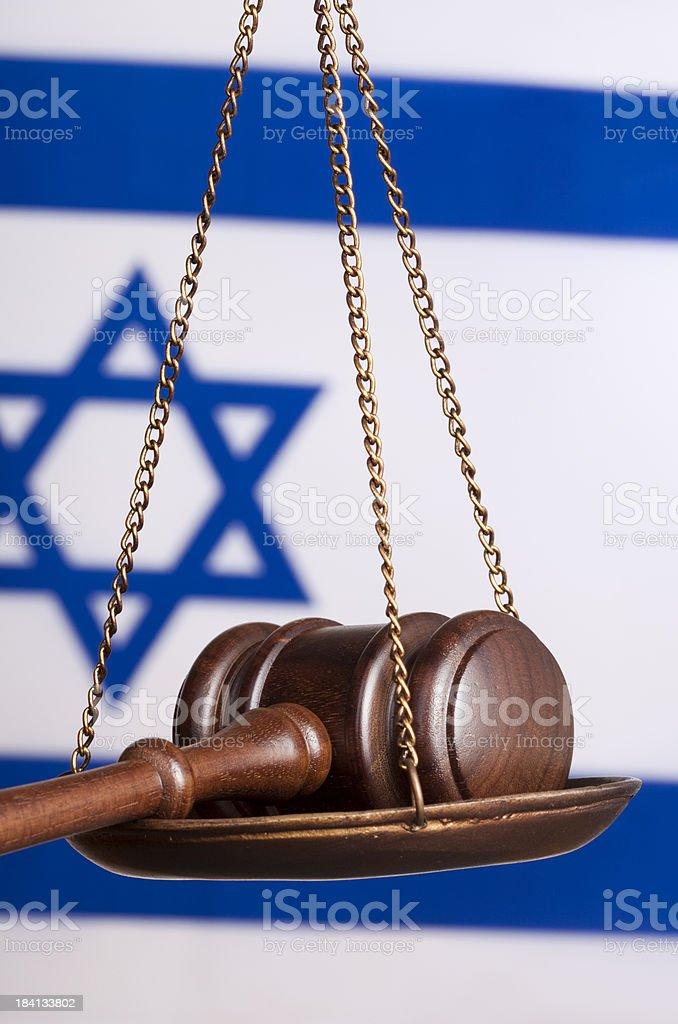 Israeli justice royalty-free stock photo