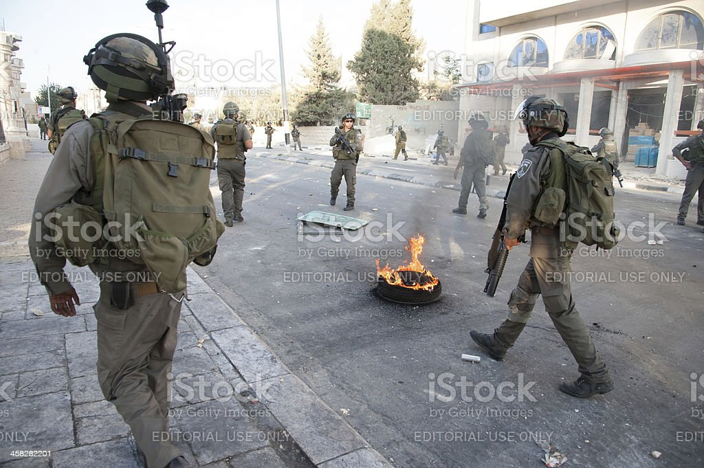 Israeli military occupation in West Bank royalty-free stock photo