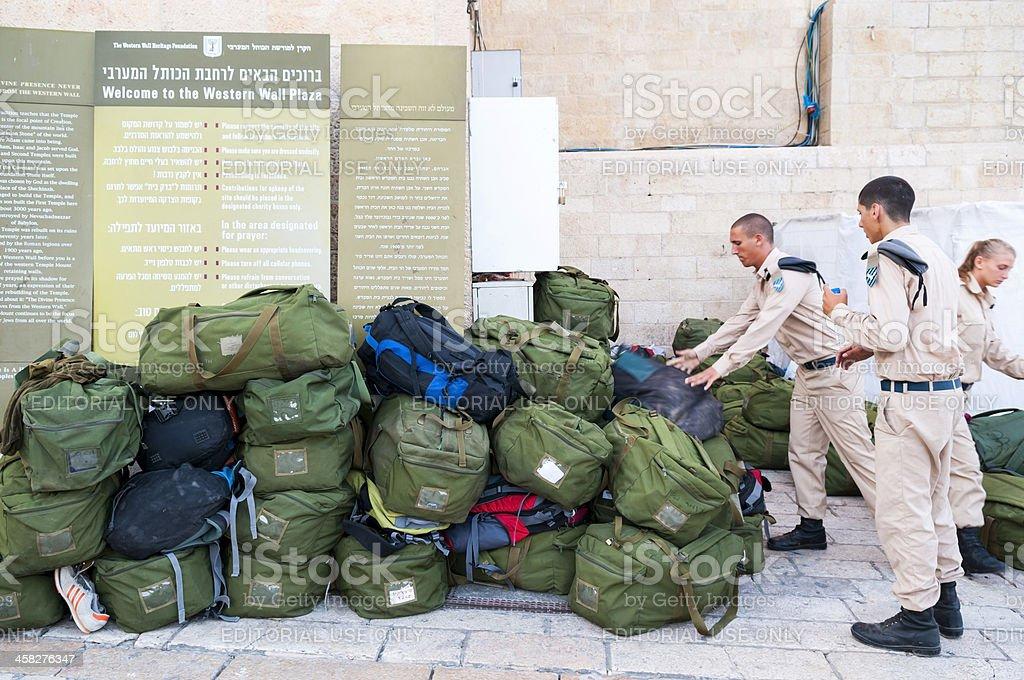 Israeli military recruits stock photo