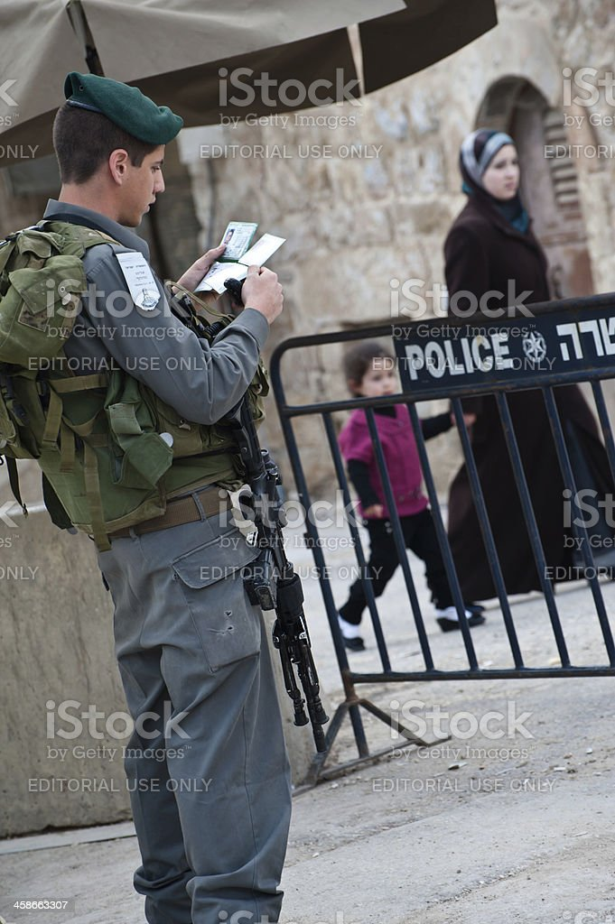 Israeli Occupation in Hebron royalty-free stock photo