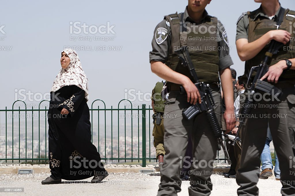Israeli Occupation in Palestine royalty-free stock photo
