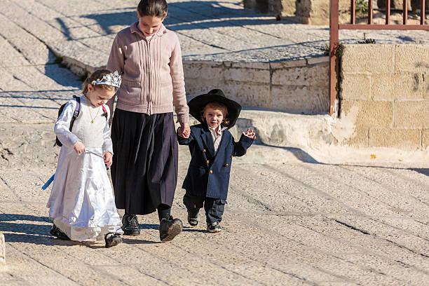 Israeli people using roofs for walking stock photo