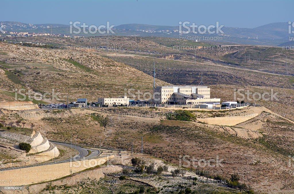 Israeli police headquarters near Maale Adumim Israel stock photo
