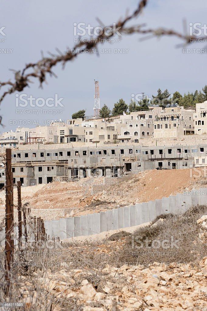 Israeli Settlement Construction royalty-free stock photo