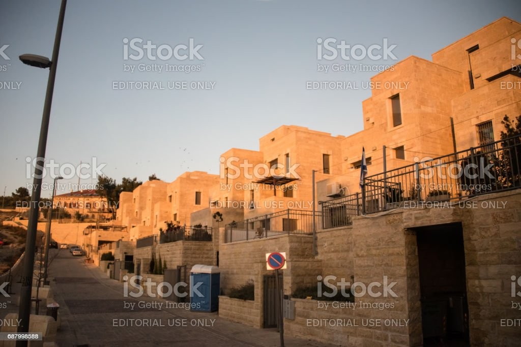 Israeli settlement in occupied Palestinian territory stock photo