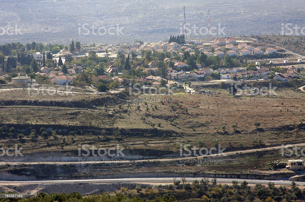 Israeli settlement in the West Bank (Samaria) royalty-free stock photo