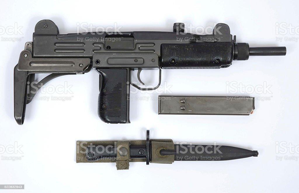 Israeli UZI sub machine gun stock photo