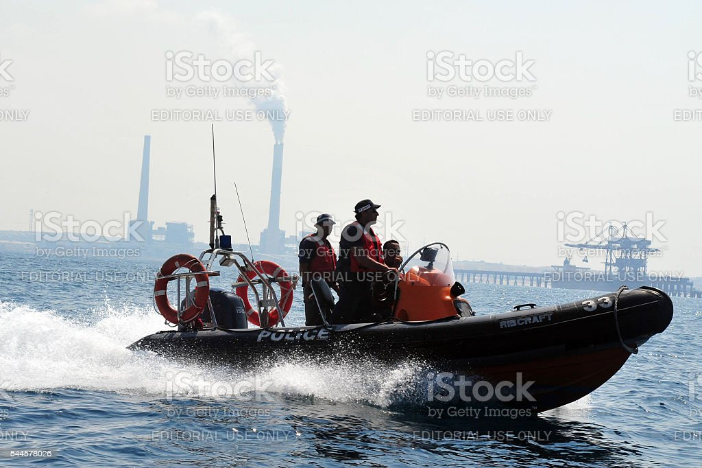 Israeli Water police stock photo