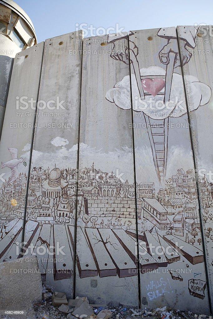 Israeli West Bank barrier royalty-free stock photo