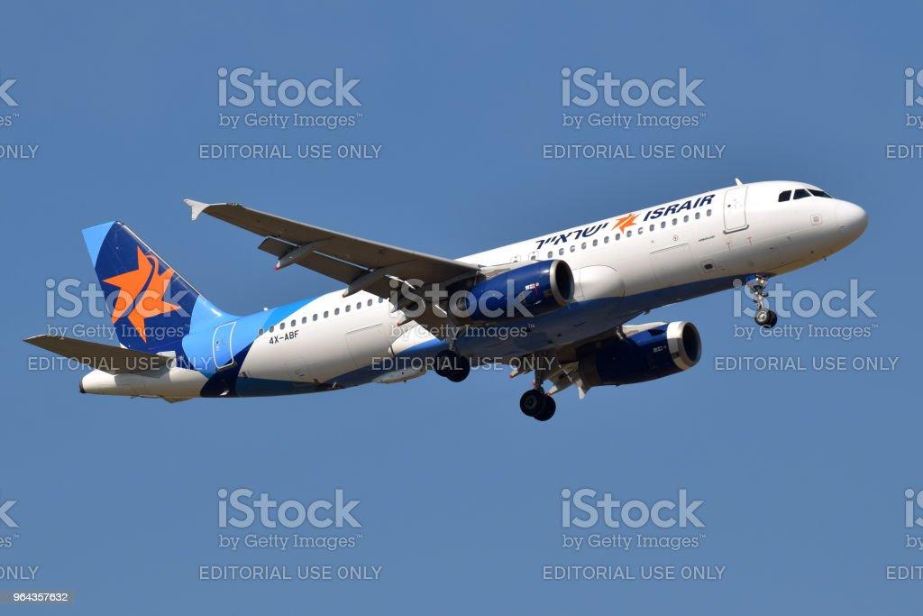 Israir Airlines Airbus A320 - Foto de stock de Aeroporto royalty-free