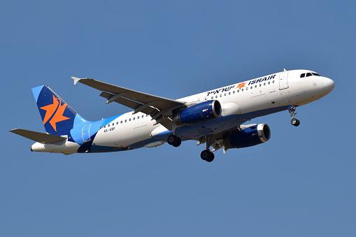 Foto de Israir Airlines Airbus A320 e mais fotos de stock de Aeroporto