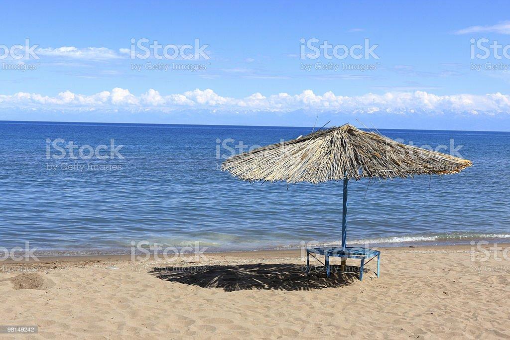 Issyk Kul beach royalty-free stock photo