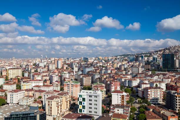 вид с воздуха на стамбул - стамбул стоковые фото и изображения