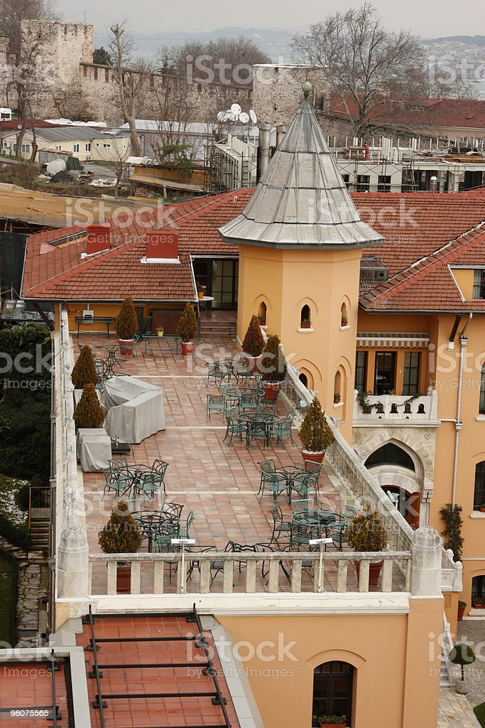 Istanbul and cafe royalty-free stock photo