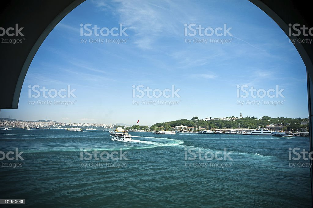 istanbul and golden horn royalty-free stock photo