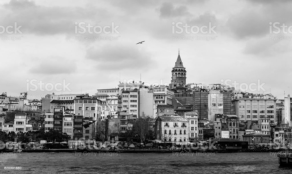 Istanbul Black and White stock photo