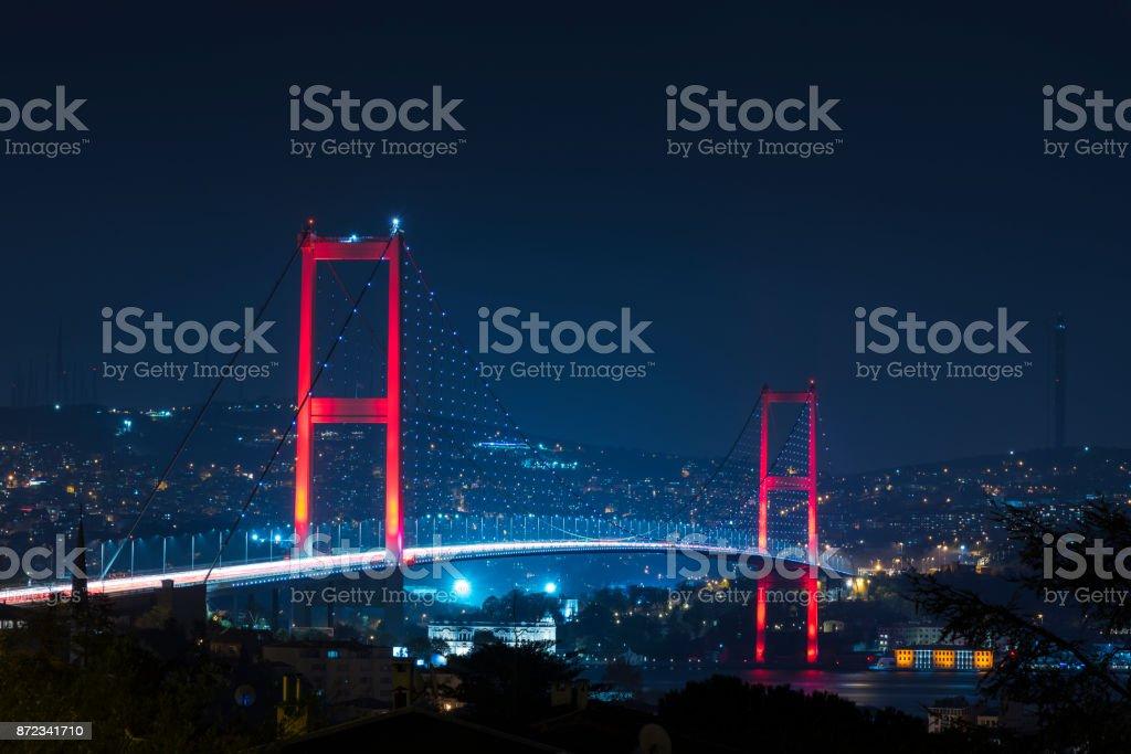 イスタンブール ボスポラス橋の...