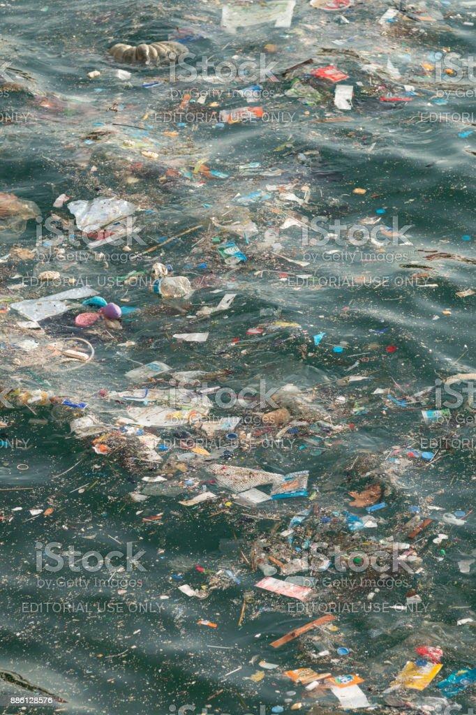 istanbul bosphorus marine pollution November 30,2017 istanbul, Turkey stock photo