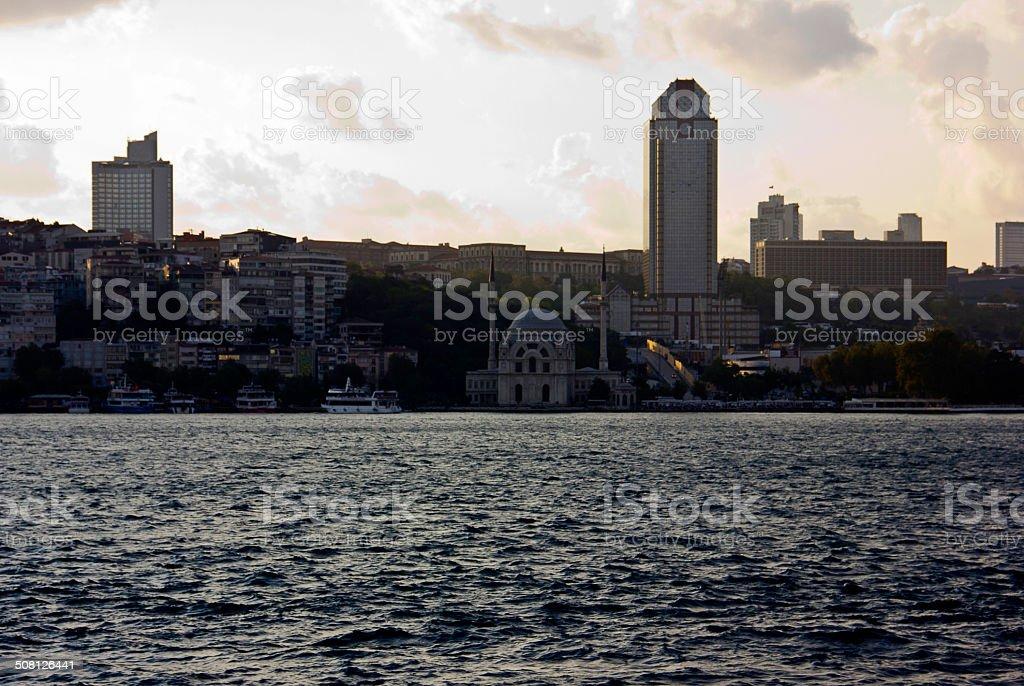 Istanbul Bosphorus view stock photo