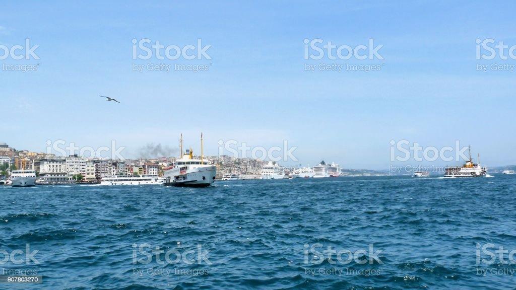 Istanbul city view stock photo