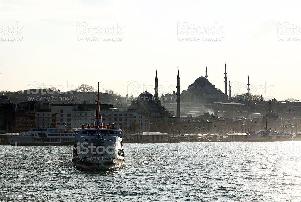 Istanbul Ferry on The Marmara Sea royalty-free stock photo