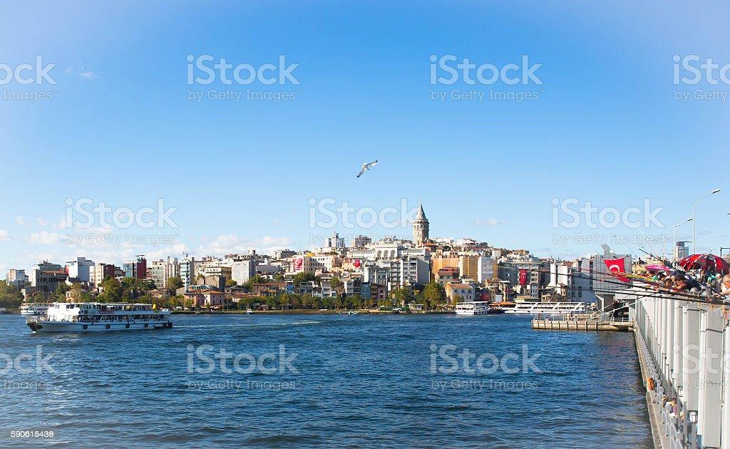istanbul galata tower stock photo