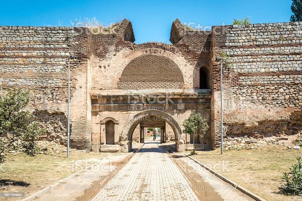 Istanbul Gate of Nicea Ancient City, Iznik royalty-free stock photo